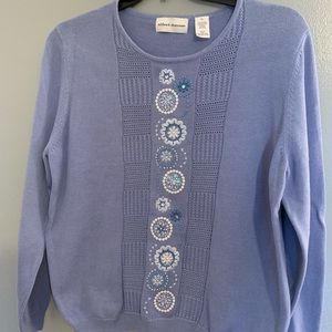 Alfred Dunner blue pullover sweater size XL